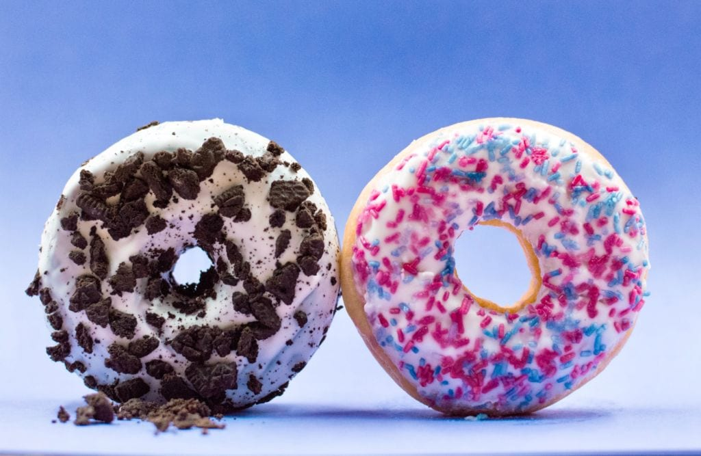 Photo of two donuts