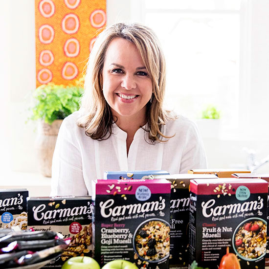 Carolyn Creswell, Founder of the beloved Carman's Muesli