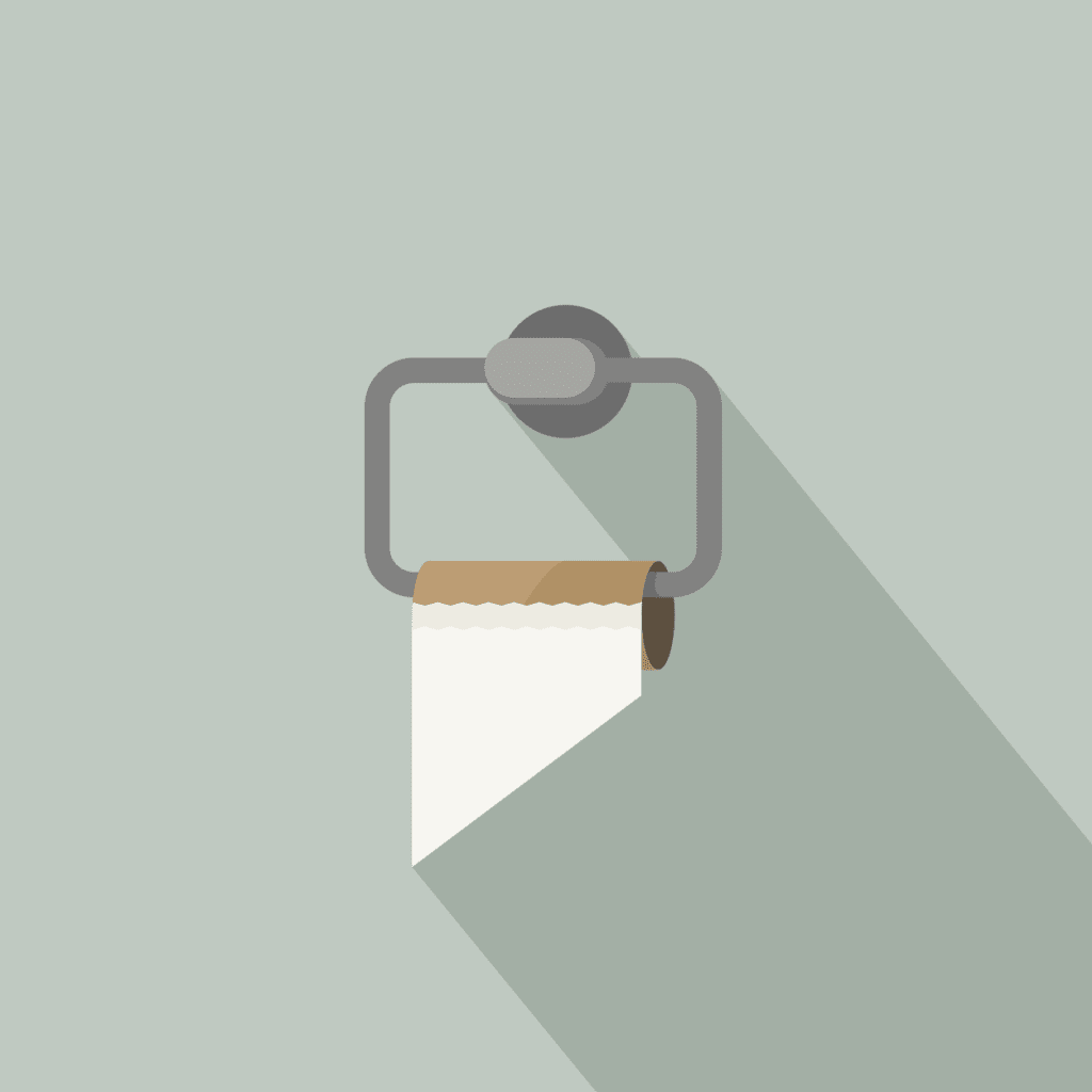 Image of empty toilet paper roll